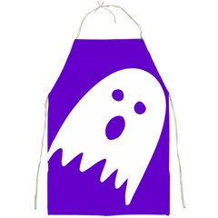 Halloween Ghost Apron Purple