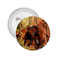 Steampunk, Steampunk Elephant With Clocks And Gears 2 25  Buttons