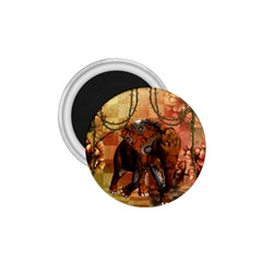 Steampunk, Steampunk Elephant With Clocks And Gears 1 75  Magnets
