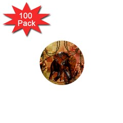 Steampunk, Steampunk Elephant With Clocks And Gears 1  Mini Buttons (100 Pack)