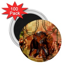 Steampunk, Steampunk Elephant With Clocks And Gears 2 25  Magnets (100 Pack)