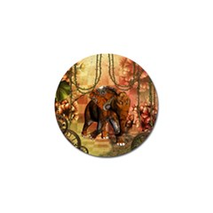 Steampunk, Steampunk Elephant With Clocks And Gears Golf Ball Marker