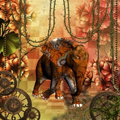Steampunk, Steampunk Elephant With Clocks And Gears Magic Photo Cubes