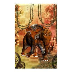 Steampunk, Steampunk Elephant With Clocks And Gears Shower Curtain 48  X 72  (small)