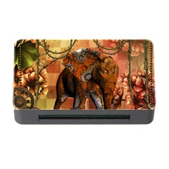 Steampunk, Steampunk Elephant With Clocks And Gears Memory Card Reader With Cf