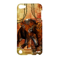Steampunk, Steampunk Elephant With Clocks And Gears Apple Ipod Touch 5 Hardshell Case