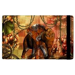 Steampunk, Steampunk Elephant With Clocks And Gears Apple Ipad 3/4 Flip Case