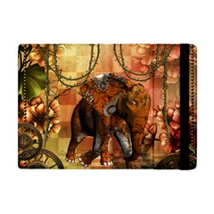 Steampunk, Steampunk Elephant With Clocks And Gears Apple Ipad Mini Flip Case