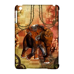 Steampunk, Steampunk Elephant With Clocks And Gears Apple Ipad Mini Hardshell Case (compatible With Smart Cover)
