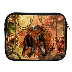 Steampunk, Steampunk Elephant With Clocks And Gears Apple Ipad 2/3/4 Zipper Cases