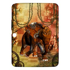 Steampunk, Steampunk Elephant With Clocks And Gears Samsung Galaxy Tab 3 (10 1 ) P5200 Hardshell Case
