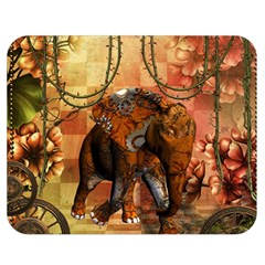 Steampunk, Steampunk Elephant With Clocks And Gears Double Sided Flano Blanket (medium)