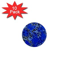 Wet Plastic, Blue 1  Mini Magnet (10 Pack)