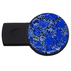 Wet Plastic, Blue Usb Flash Drive Round (4 Gb)