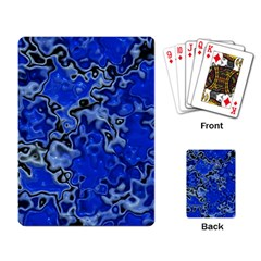 Wet Plastic, Blue Playing Card