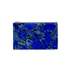 Wet Plastic, Blue Cosmetic Bag (small)