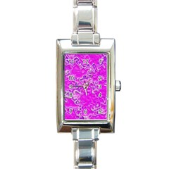 Wet Plastic, Pink Rectangle Italian Charm Watch