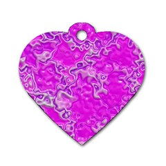 Wet Plastic, Pink Dog Tag Heart (one Side)