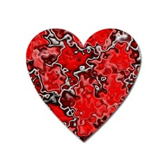 Wet Plastic, Red Heart Magnet