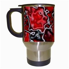 Wet Plastic, Red Travel Mugs (white)