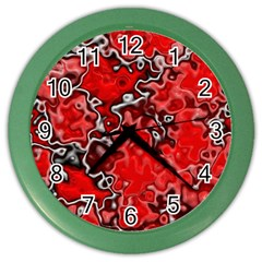 Wet Plastic, Red Color Wall Clocks