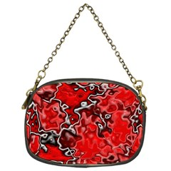 Wet Plastic, Red Chain Purses (one Side)