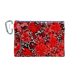 Wet Plastic, Red Canvas Cosmetic Bag (m)