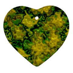 Wet Plastic, Yellow Ornament (heart)