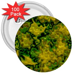 Wet Plastic, Yellow 3  Buttons (100 Pack)