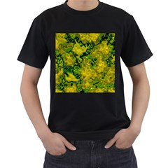 Wet Plastic, Yellow Men s T Shirt (black) (two Sided)