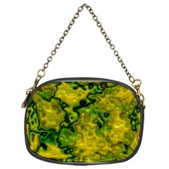Wet Plastic, Yellow Chain Purses (two Sides)