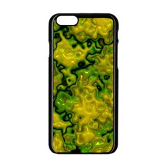 Wet Plastic, Yellow Apple Iphone 6/6s Black Enamel Case