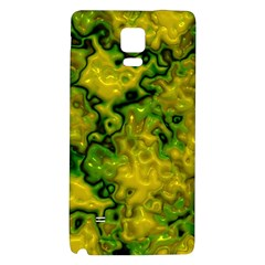 Wet Plastic, Yellow Galaxy Note 4 Back Case