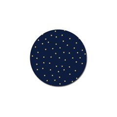 Navy/gold Stars Golf Ball Marker