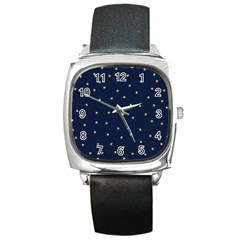 Navy/gold Stars Square Metal Watch