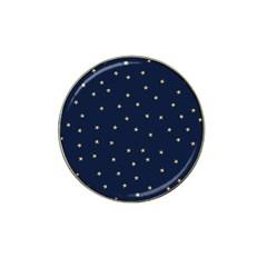 Navy/gold Stars Hat Clip Ball Marker