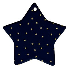 Navy/gold Stars Star Ornament (two Sides)