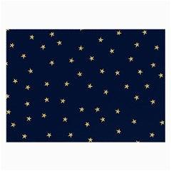 Navy/gold Stars Large Glasses Cloth