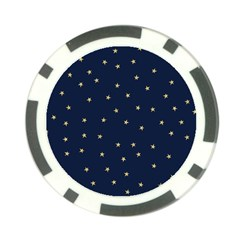 Navy/gold Stars Poker Chip Card Guard