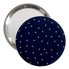 Navy/gold Stars 3  Handbag Mirrors