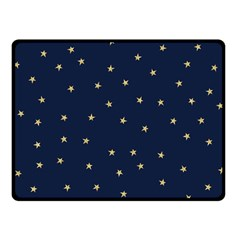 Navy/gold Stars Double Sided Fleece Blanket (small)