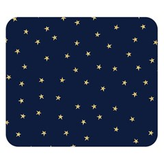 Navy/gold Stars Double Sided Flano Blanket (small)