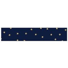 Navy/gold Stars Flano Scarf (small)
