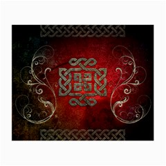 The Celtic Knot With Floral Elements Small Glasses Cloth (2 Side)