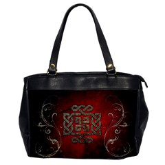 The Celtic Knot With Floral Elements Office Handbags