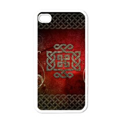 The Celtic Knot With Floral Elements Apple Iphone 4 Case (white)
