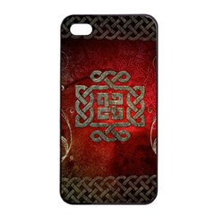 The Celtic Knot With Floral Elements Apple Iphone 4/4s Seamless Case (black)