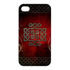 The Celtic Knot With Floral Elements Apple Iphone 4/4s Premium Hardshell Case