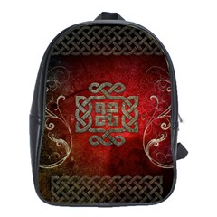 The Celtic Knot With Floral Elements School Bag (xl)