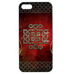 The Celtic Knot With Floral Elements Apple Iphone 5 Hardshell Case With Stand